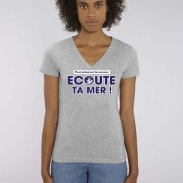 T-Shirt V - Script - Femme